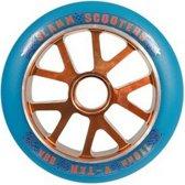 Slamm V-ten 110mm wiel stuntstep blauw oranje per stuk