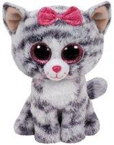 Ty Beanie Boo's Kiki pluche grijs kat knuffel  15 cm