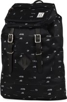 The Pack Society Premium Rugzak - Black Numbers Allover