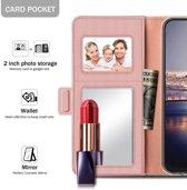 Apple iPhone Xs Max Book Cover met Spiegel Roze Goud