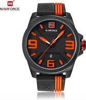 Naviforce Horloge 1915 - Zwart/Oranje