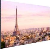 FotoCadeau.nl - Zonsondergang over Parijs Aluminium 60x40 cm - Foto print op Aluminium (metaal wanddecoratie)