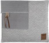 Knit Factory Jack Kussen - Licht Grijs / Beige 50 x 50 cm