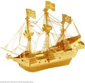 Metal Earth Modelbouw 3D Gouden zeilschip driemaster Golden Hind - Metaal
