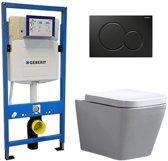 Geberit UP 320 Toiletset - Inbouw WC Hangtoilet Wandcloset - Alexandria Geberit Sigma-01 Zwart