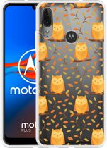 Motorola Moto E6 Plus Hoesje Cute Owls