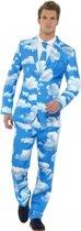 Heren kostuum wolken print Xl