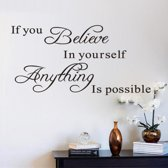 Muursticker – Muurstickers Slaapkamer – Muurdecoratie woonkamer – Goedkope muurstickers –  Believe