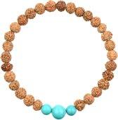 Turquoise Mala Armband   Alniyat   M - 19 cm