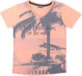 DJ Dutchjeans Jongens T-shirt - Faded coral - Maat 110
