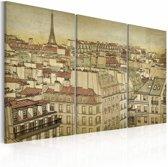 Schilderij - Parijs - De stad in harmonie ,  3 luik