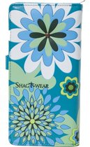 Shagwear Trendy & Funky Vrouwen Portemonnee - Vintage Flowers / Bloemen (0395Z)