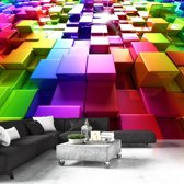 Fotobehang - Blokken in kleur
