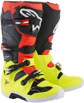Alpinestars Crosslaarzen Tech 7 Fluor Yellow/Fluor Red/Gray/Black-39 (EU)