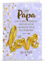 "Love ballon ""Lieve Papa"""