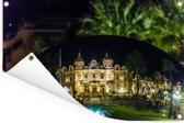 De Franse casino weerspiegeld in de Sky Mirror in Monaco Tuinposter 120x80 cm - Tuindoek / Buitencanvas / Schilderijen voor buiten (tuin decoratie)