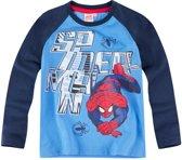 Spider-Man-T-shirt-met-lange-mouw-marineblauw-maat-104