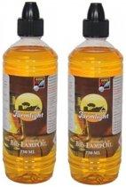 2 flessen citronella lampenolie / fakkelolie - 750 ml - met gratis aansteker