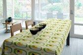 Joy@home Tafellaken - Tafelkleed - Tafelzeil - Retro Wit/Groen