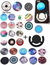 Pop Up Button Popsocket | Met Gratis Smartphone Houder Clip | PoP Up Button net als de Popsocket en Popsockets | Random Motief | Rage 2017