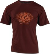 Wolf Camper Square t-shirt bordeaux