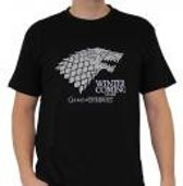 GAME OF THRONES - Tshirt Winter is coming man SS black - basic