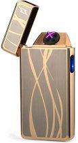 SuperLit - Luxe USB Oplaadbare windbestendige plasma aansteker - Elektrische aansteker - Goud