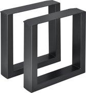 Meubelpoot bankstel 2 stuks set staal 40x43cm zwart