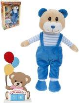 Pms Verjaardagsbeer 29 X 11 Cm Blauw