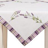 Clayre & Eef - Tafelkleed Tafellaken - 85 x 85 cm - Lavendel