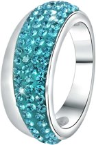 Colours by Kate - Stalen ring jet kristal