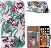 Xssive Hoesje voor Apple iPhone XS MAX 6,5 inch - Book Case - Tulpen