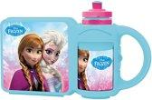 Broodtrommel met Drinkbeker Frozen Elsa en Anna