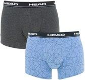 Head - Heren 2-Pack Mesh Print Boxershorts Blauw Grijs - L
