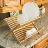 5Five Bamboe Afdruiprek - Afdruiprekken - Afdruiprek voor afwas - Afwasrek van Hout - Opvouwbaar