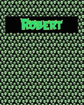 120 Page Handwriting Practice Book with Green Alien Cover Robert