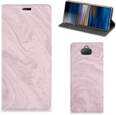 Sony Xperia 10 Plus Standcase Marble Roze