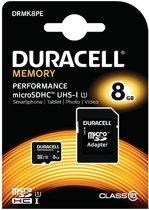 Duracell Micro SDHC 8GB Cl.10 U1/Adap Prf