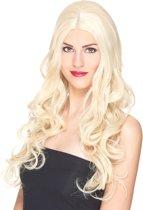 Gekrulde blonde pruik voor vrouwen - 251 g - Verkleedpruik