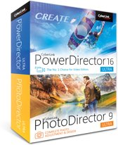 Cyberlink PowerDirector 16 Ultra & PhotoDirector 9 Ultra - Nederlands/ Frans/ Engels - Windows
