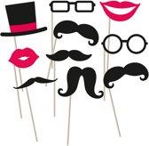 10 Photo Booth Kit Moustache 10 Pieces