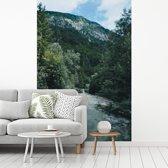Fotobehang vinyl - De woeste Soca Rivier in de Tolmin kloof in het Nationaal park Triglav breedte 155 cm x hoogte 240 cm - Foto print op behang (in 7 formaten beschikbaar)