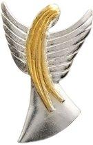 AuBor ®,  Broche, Zilveren beschermengel
