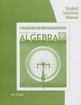 Student Solutions Manual for Aufmann/Lockwood's Introductory Algebra: An Applied Approach, 9th