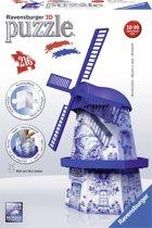 Ravensburger Windmolen Delftsblauw - 3D puzzel gebouw - 216 stukjes