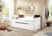 Bedbank Ronny - Met slaaplade - Wit