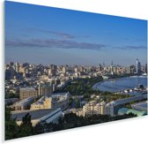 Stadshorizon van Bakoe in Azerbeidzjan Plexiglas 180x120 cm - Foto print op Glas (Plexiglas wanddecoratie) XXL / Groot formaat!