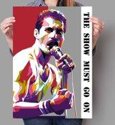 Poster WPAP Pop Art Freddie Mercury - Queen