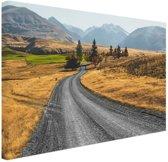 Weg Nieuw-Zeeland  Canvas 30x20 cm - Foto print op Canvas schilderij (Wanddecoratie woonkamer / slaapkamer) / Zee en Strand
