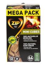 ZIP Aanmaakblokjes Geurloos Mini Cubes - 64 blokjes
